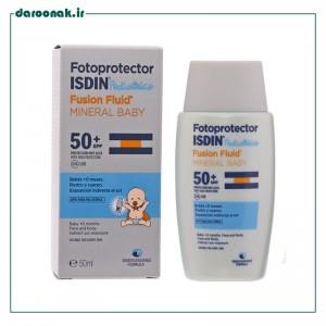 فلوئید ضد آفتاب مینرال کودک ⁺SPF50 ایزدین ۵۰ میلی لیتر