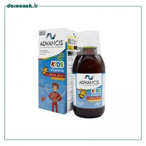 شربت کیدز ویتامینز ادونسیس همراه با رویال ژلی ۱۵۰ میلی لیتر