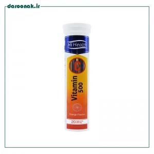 قرص جوشان ویتامین ث ۵۰۰ میلی گرمی های هلث ۲۰ عدد