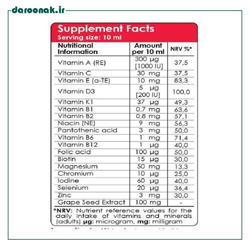 شربت مولتی ویتامین ویواکیدز ۲۰۰ میلی لیتر
