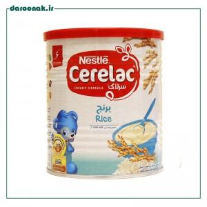 سرلاک برنج و شیر نستله از پایان ۶ ماهگی  ۴۰۰ گرم